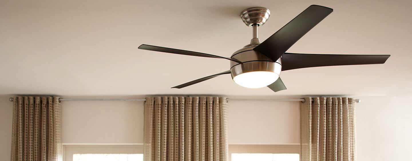 ceiling fan on a roof