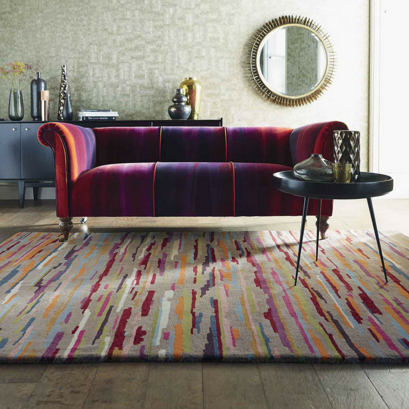 Harlequin Nuru Rugs 42902 in Tabasco