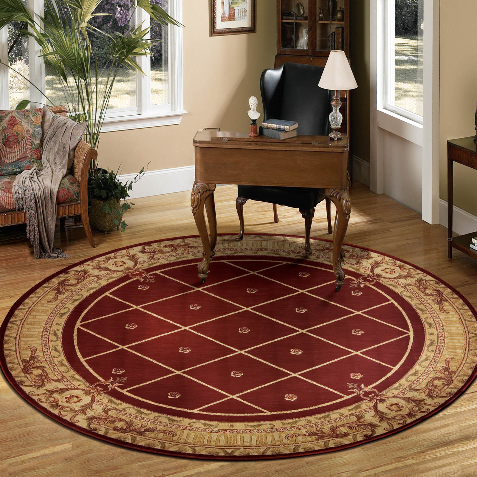 Ashton House Circular Rugs by Nourison AS03 Sienna