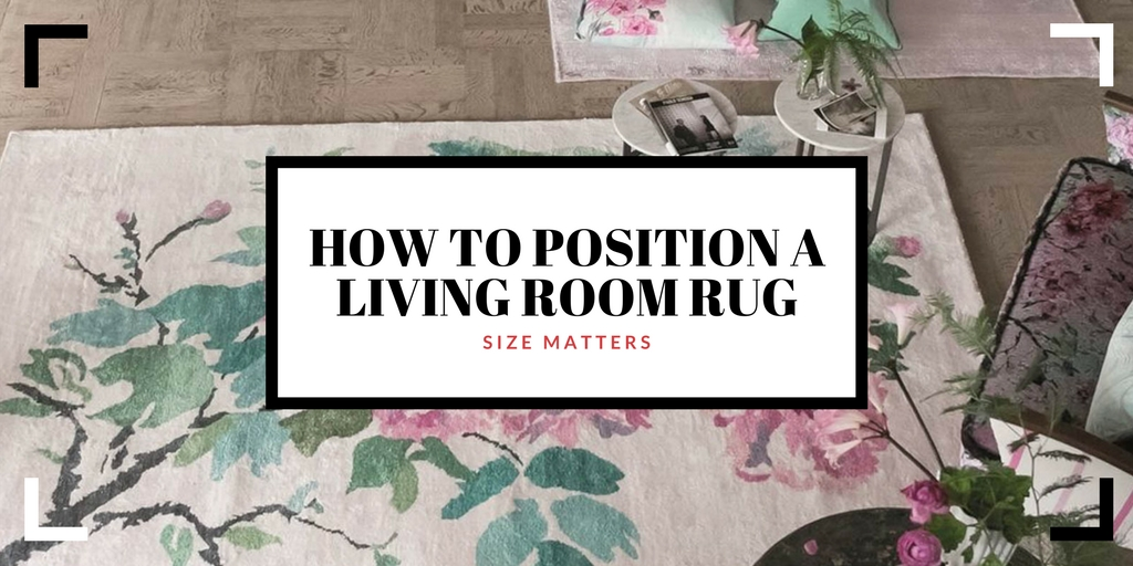 how to position a living room rug