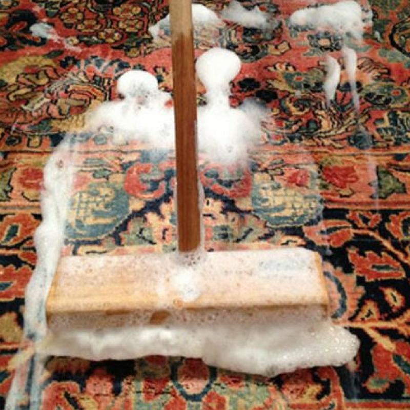 shampooing a shaggy rug