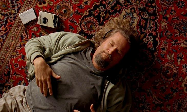 The Big Lebowski Jeff Bridges lay on rug