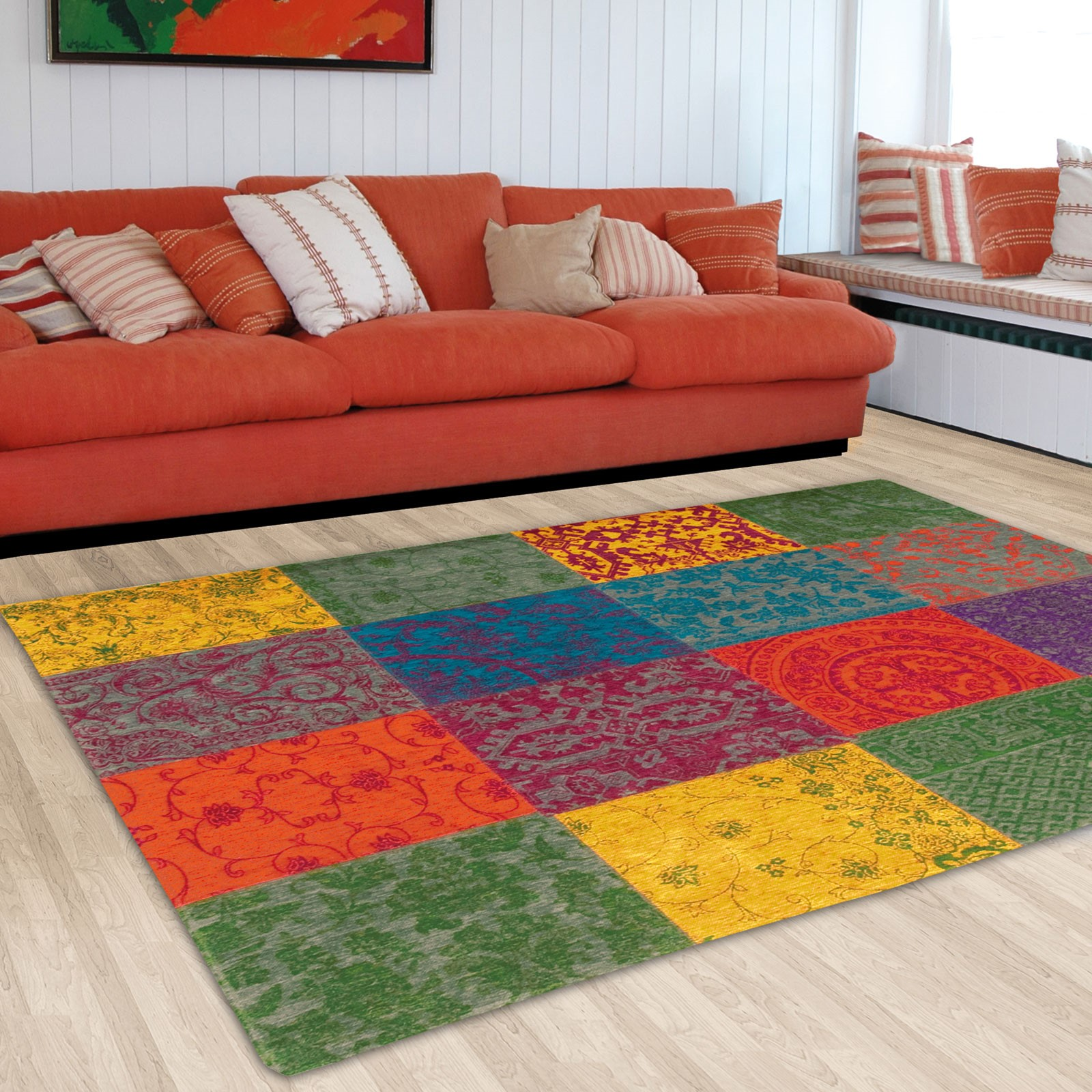 Multi Sunbird rug from the Louis de Poortere Vintage