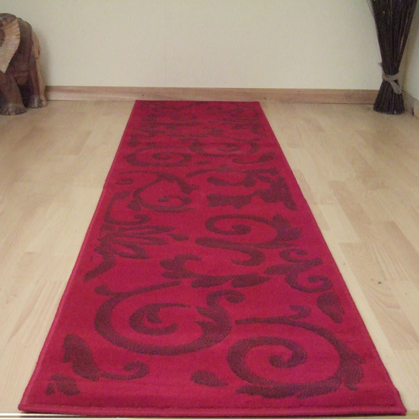 Retro 8033 8123 red damask hallway runners red carpet