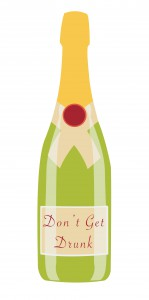 Champagne Bottle Graphic