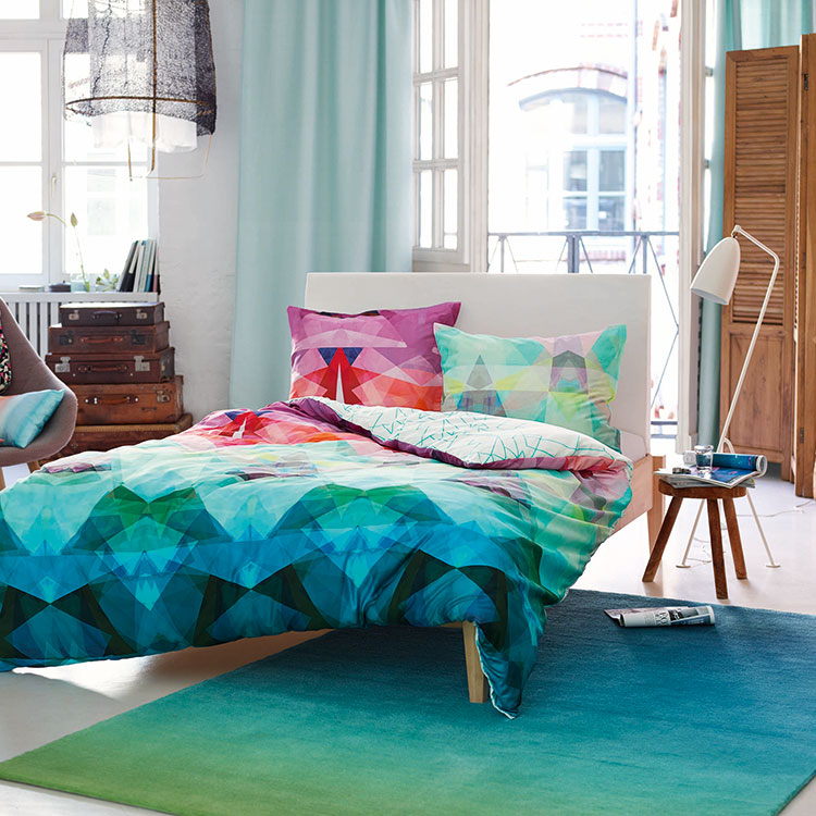 Interior Design Ideas 2016 a bright an colourful room with a blue rug and bedding ESP-3301-04_Image