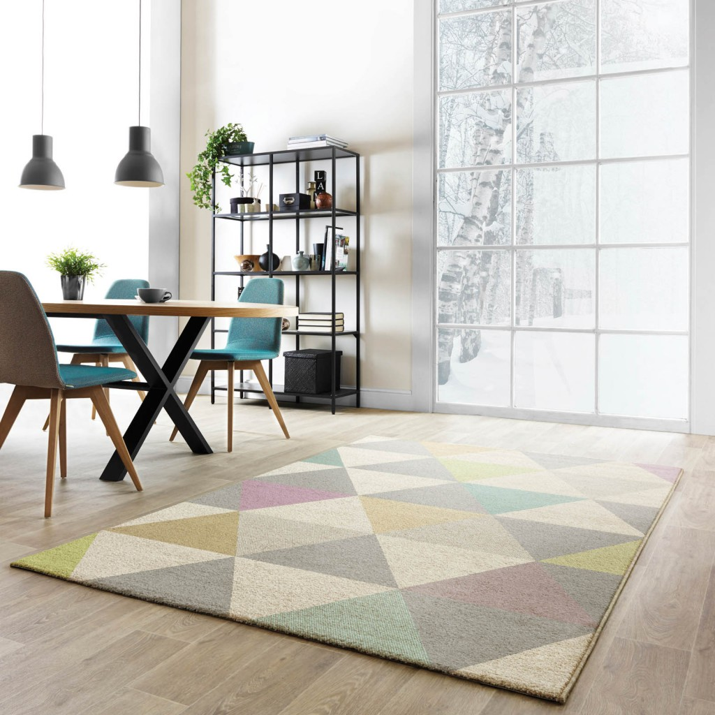 Interior Design Ideas 2016 a bright and fresh dining room Focus Triangles Multi-Coloured Rugs FC01