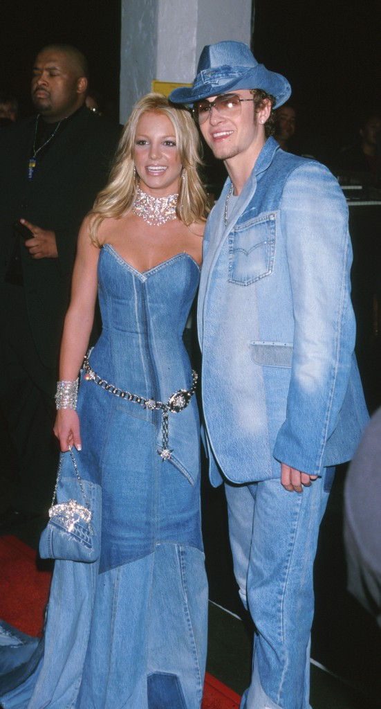 Britney Spears & Justin Timberlake of NSYNC during The 28th Annual American Music Awards at Shrine Auditorium in Los Angeles, California, United States
