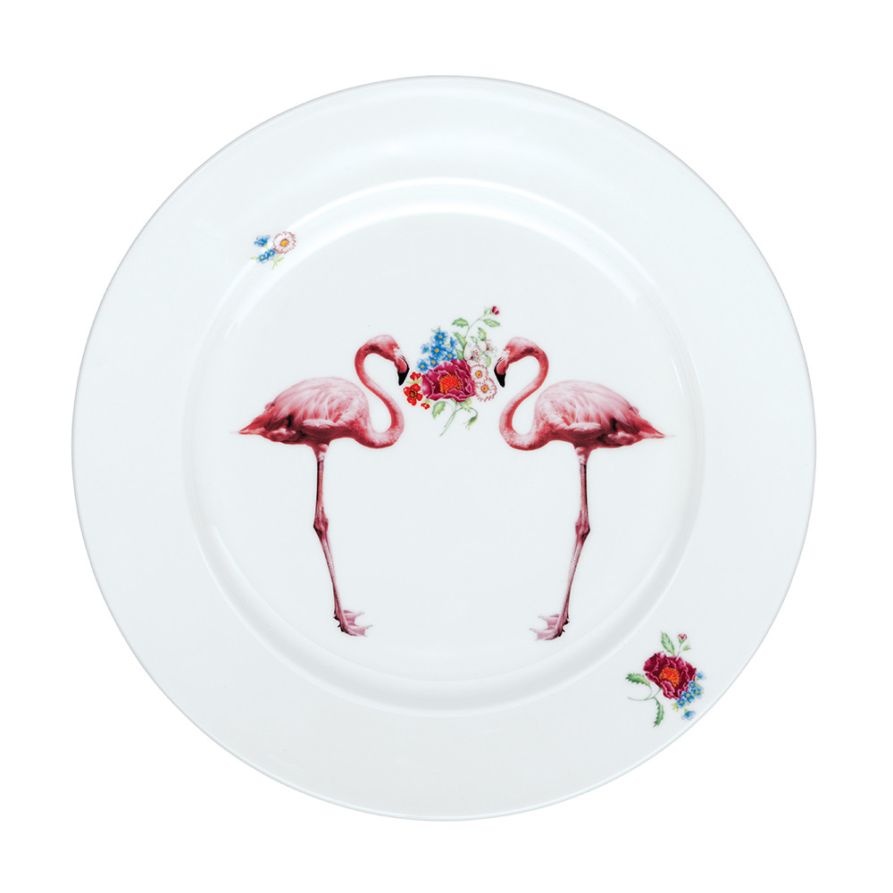 Flamingo Round Platter from Amara