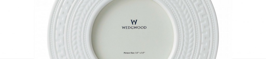 wedgwood white intaglio design plate on white background
