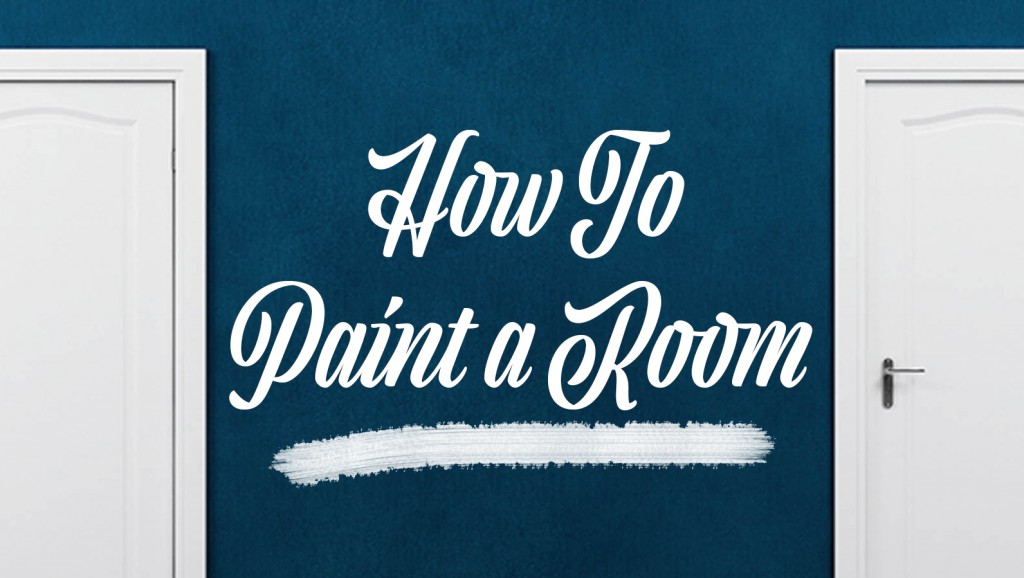 how to paint a room banner image