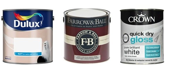 how to paint a room collage of paint cans