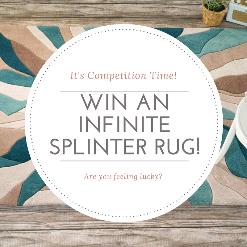 infinite splinter teal rug part of a rug competition giveaway