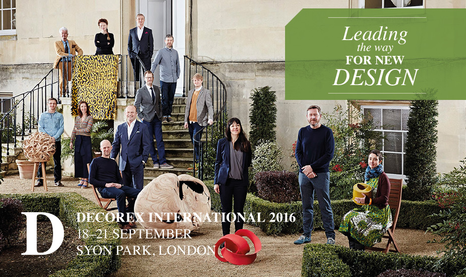 decorex international 2016 designers stood outside the venue