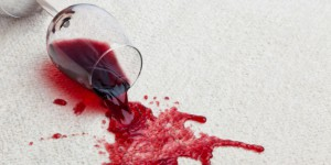 red wine spilled on rug - rug care guide