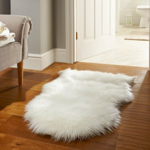 white sheepskin rug - rug care guide