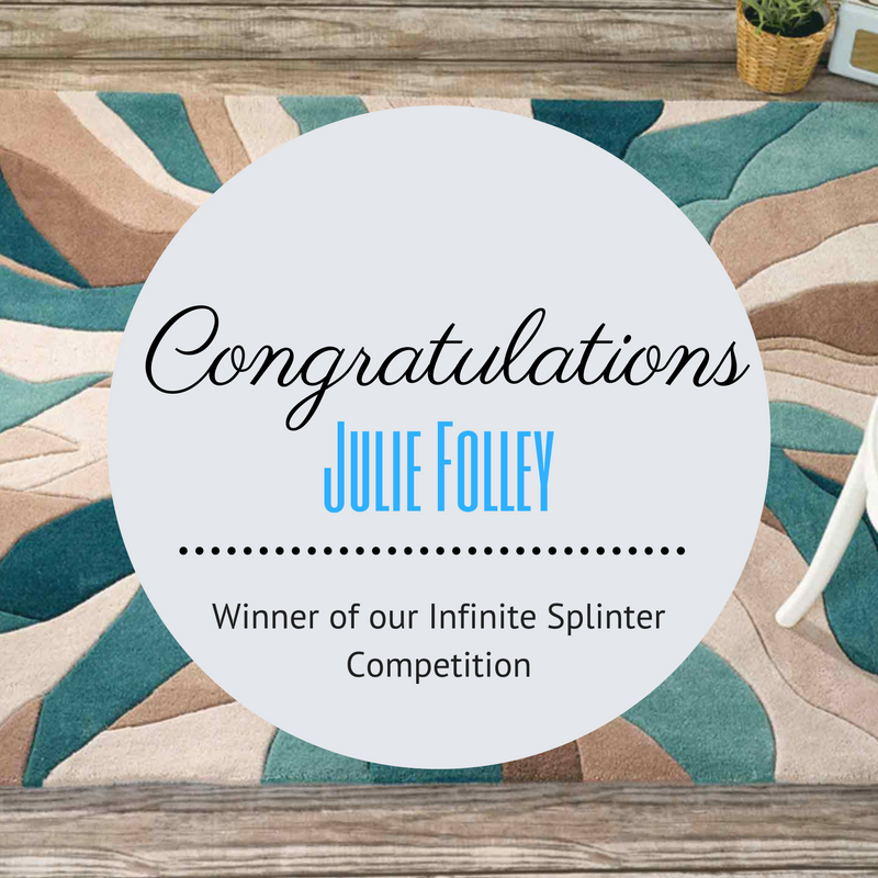 teal infinite spliter rug competition featured image