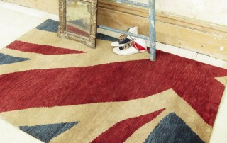 For the Union Jack Rug Competition, a Union Jack design rug with red, blue and cream colour tones