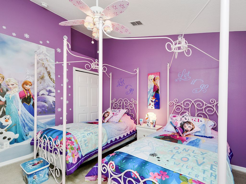creative kids bedroom ideas disneys frozen girls room - Bedroom Play Ideas