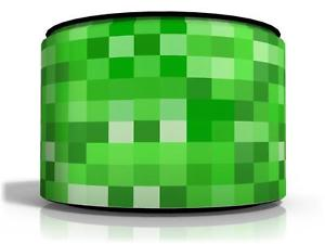 minecraft kids room pixelated lamp shade