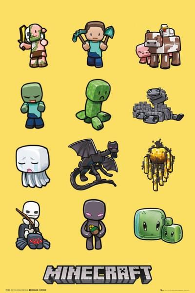 minecraft kids bedroom character poster
