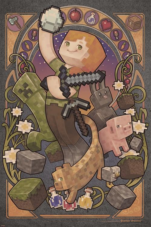 minecraft kids bedroom hero poster