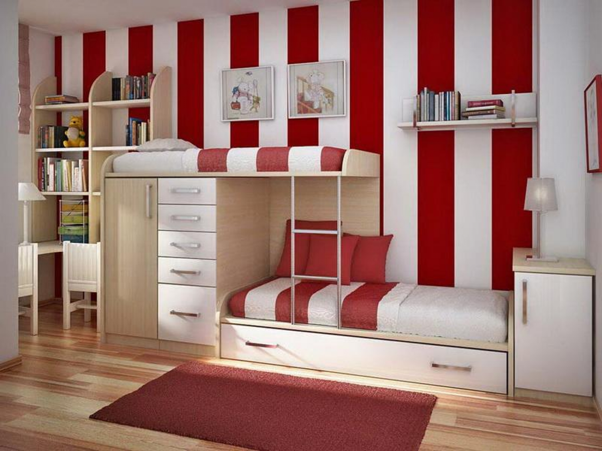Creative Kids Bedroom Bunkbed Shared bedroom