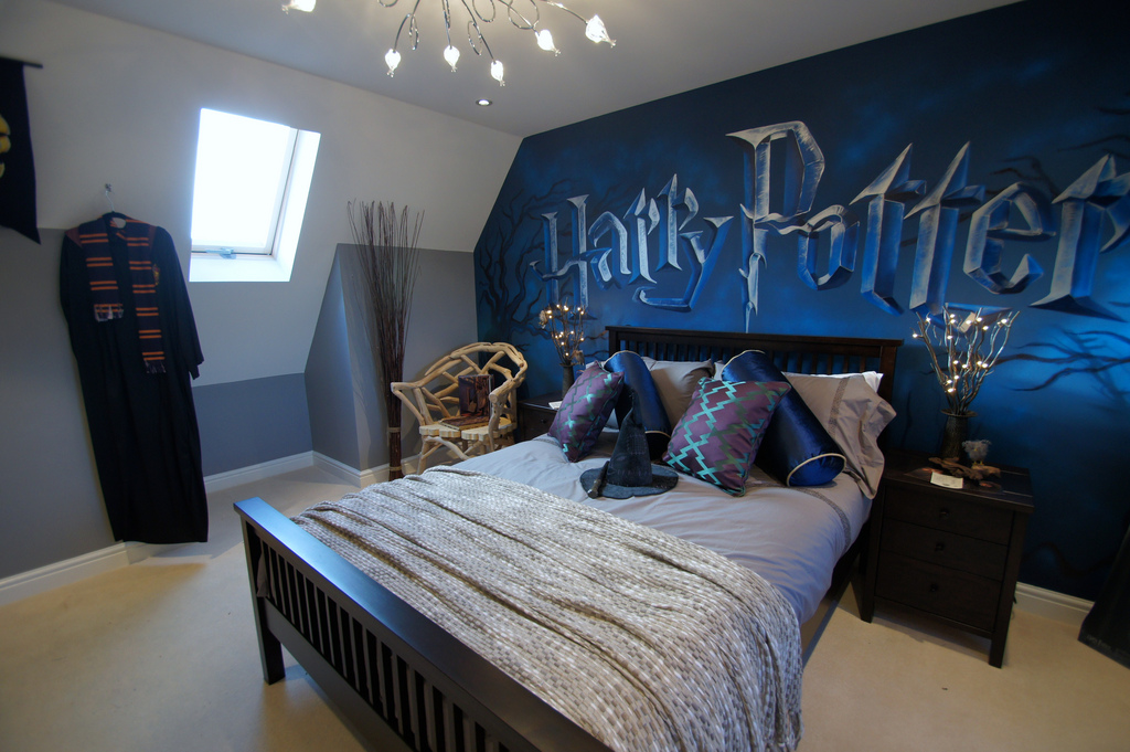 30 creative kids bedroom ideas that you 39 ll love the rug for Bedroom ideas harry potter