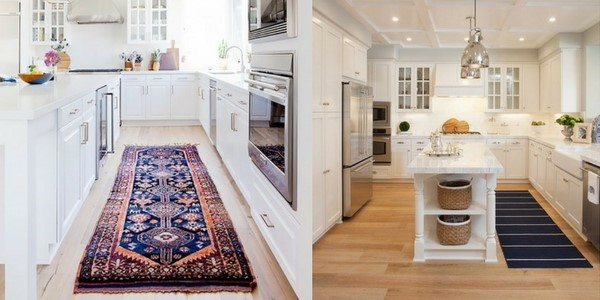 best kitchen rugs collage of kitchen runners in a galley kitchen and one next to an island