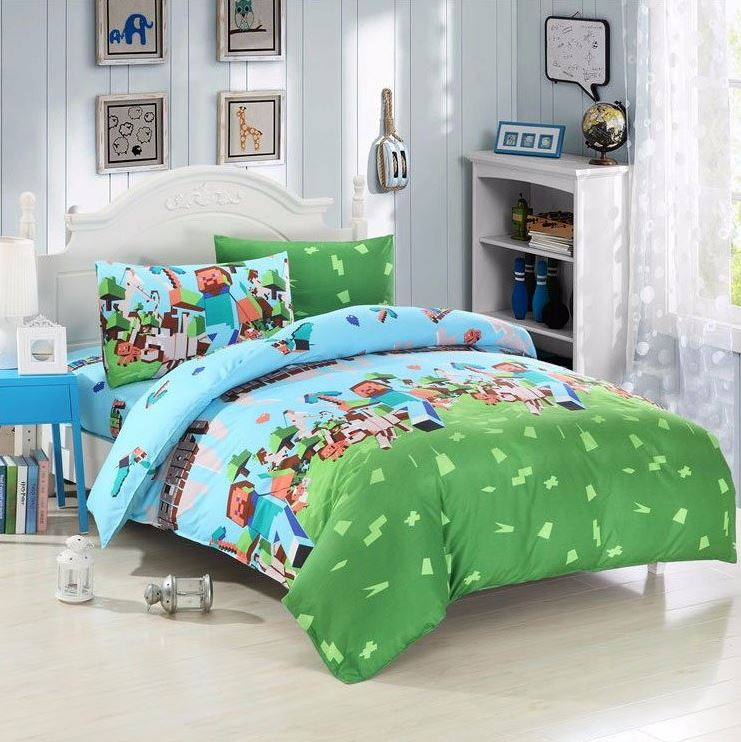 Superb Minecraft Kids Bedroom Character Duvet