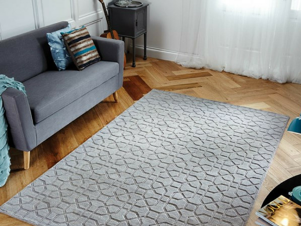 hamilton rug releases grey geometric hand carved textured rug