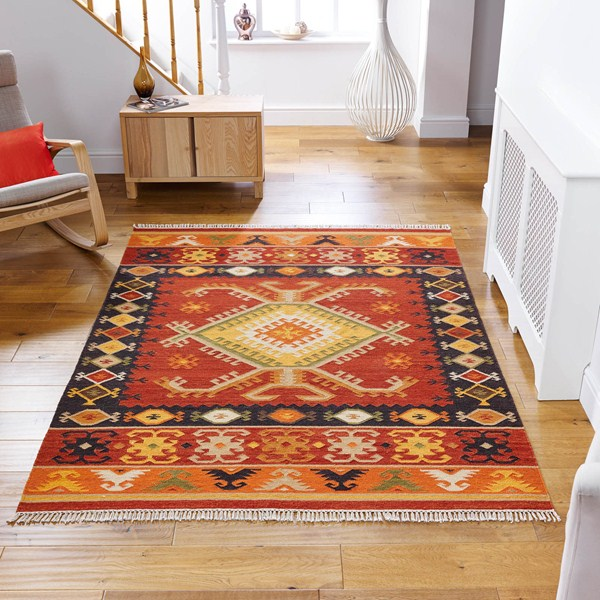 traditional rug on wooden floor in hallway for black friday sale