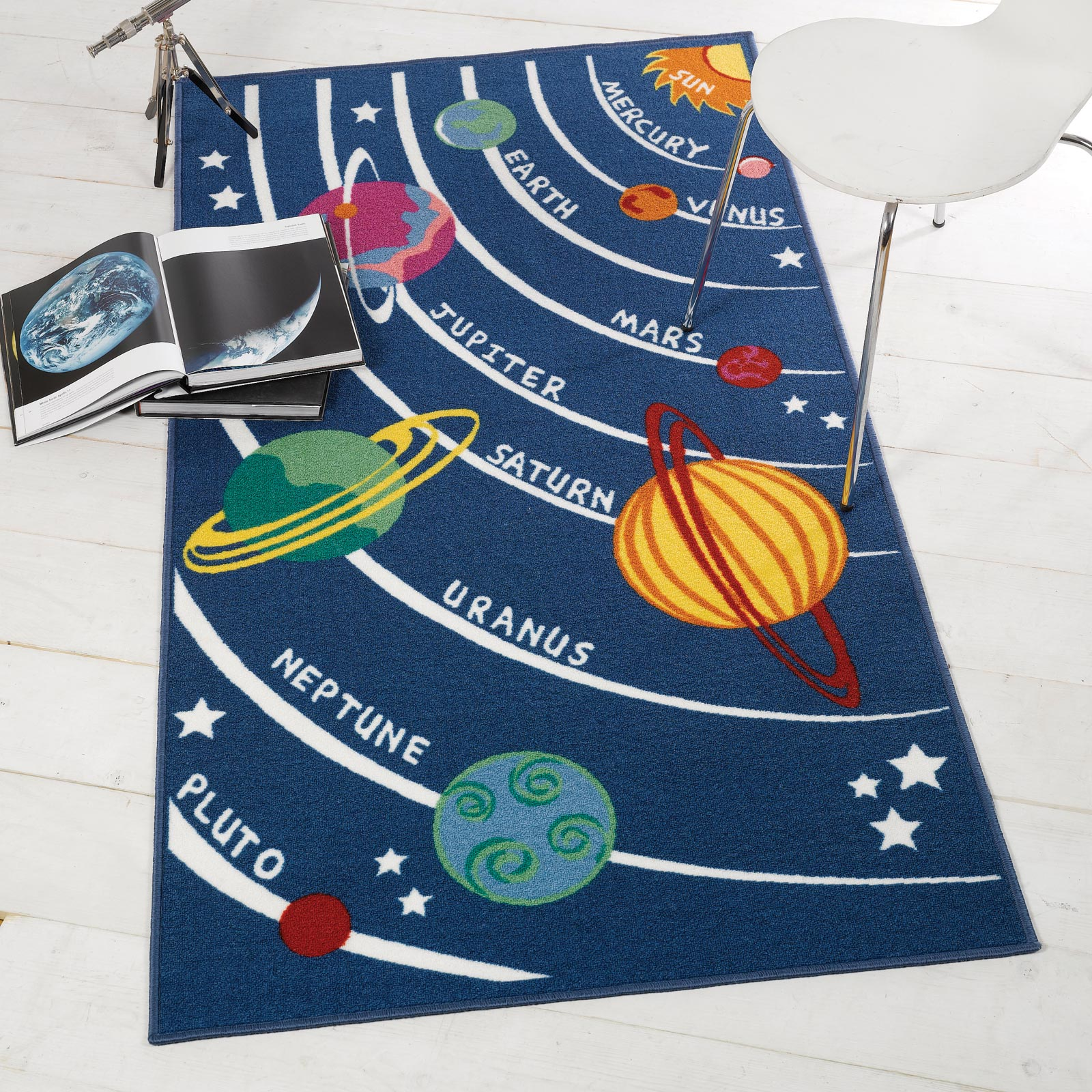 Creative Kids Bedroom Space Planets Rug