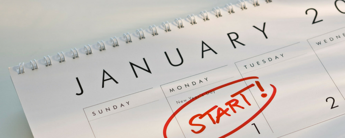 new years resolutions calendar