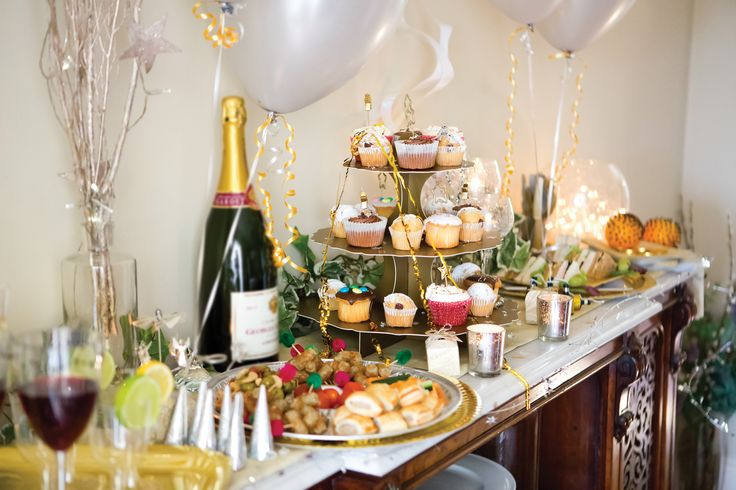 new years eve food feast party theme ideas
