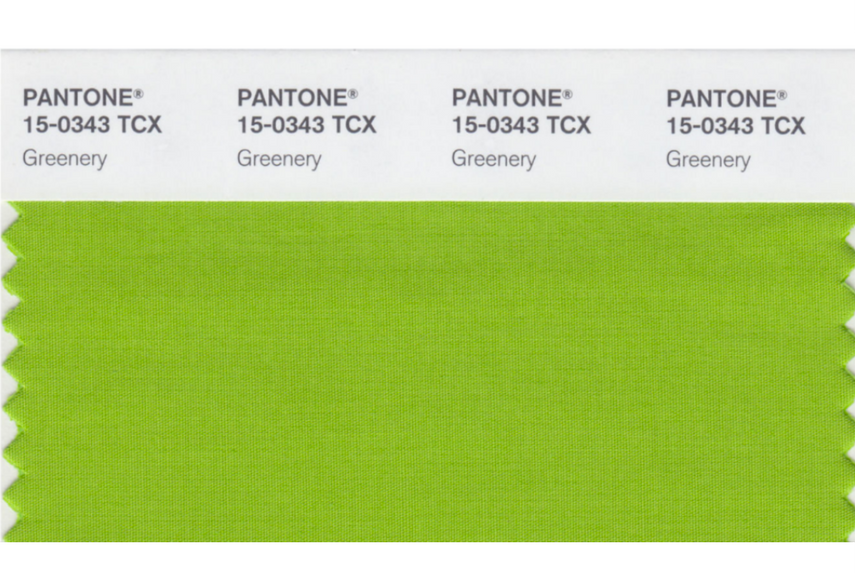 Green colour trend Pantone greenery 2017 trend