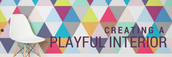 creating a playful interior title banner