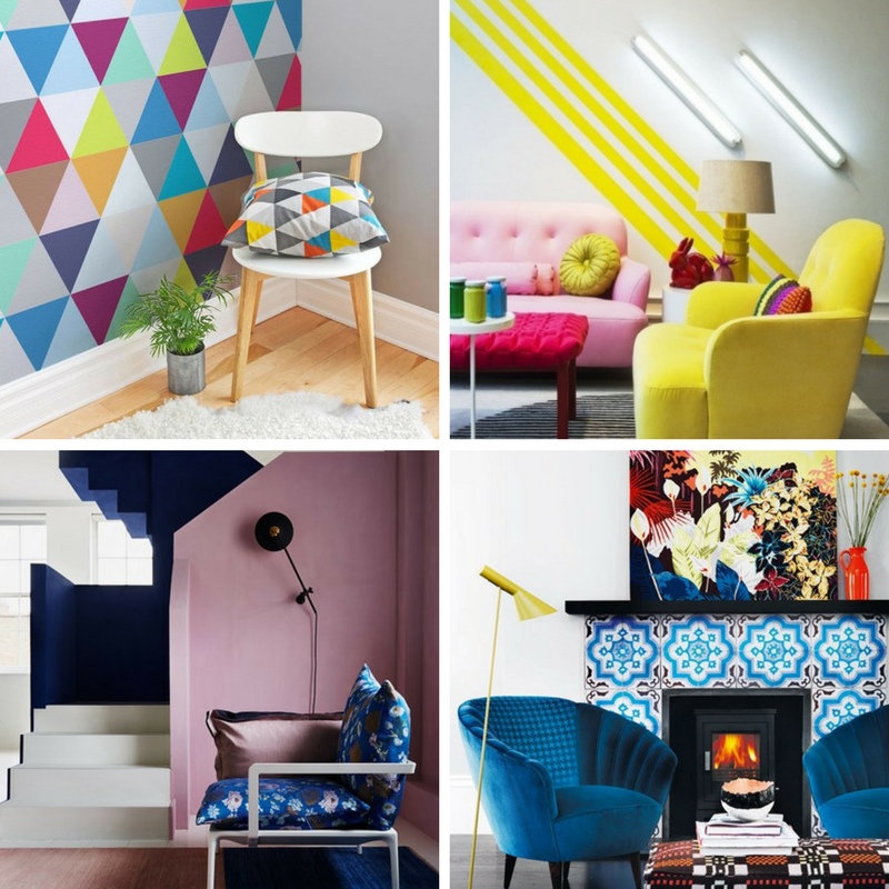 four images of playful interiors