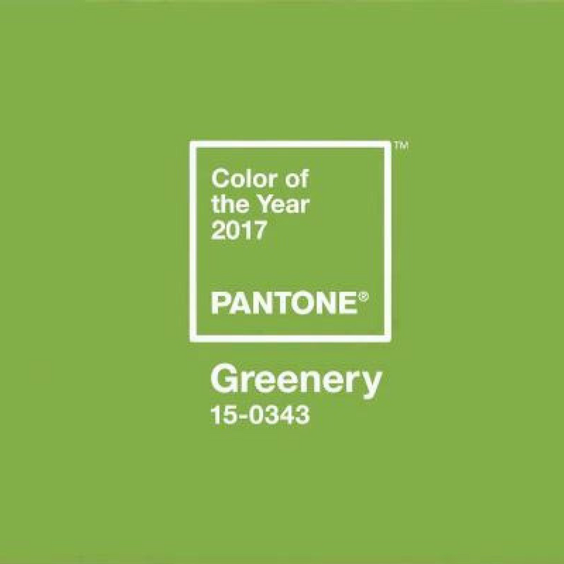 Green colour trend banner for pantone colour