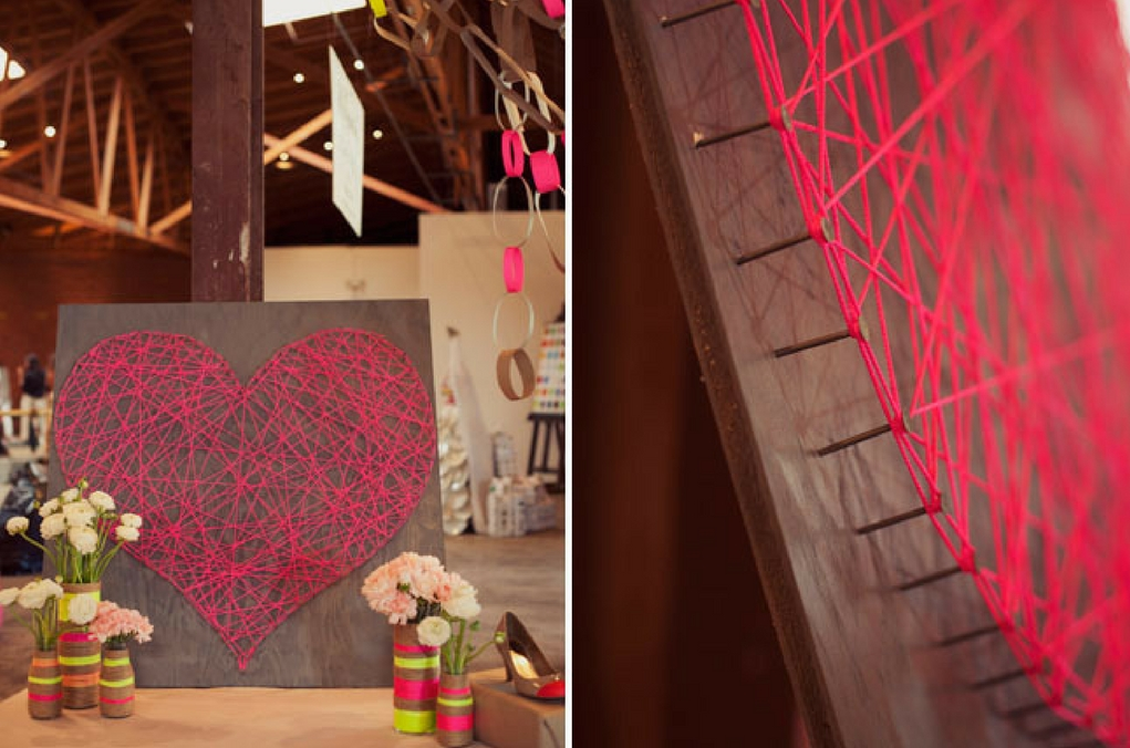 Mother's Day DIY Heartstring Wall Art