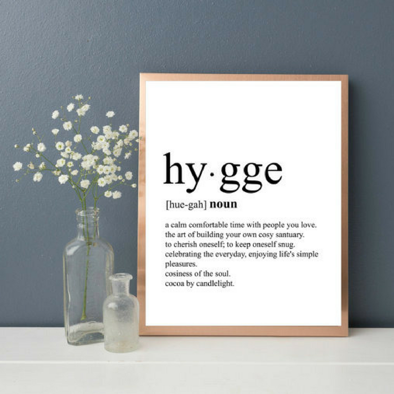 Lagom wall art hygge meaning
