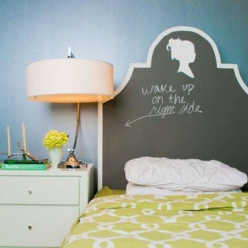 Chalk Board As A Headboard