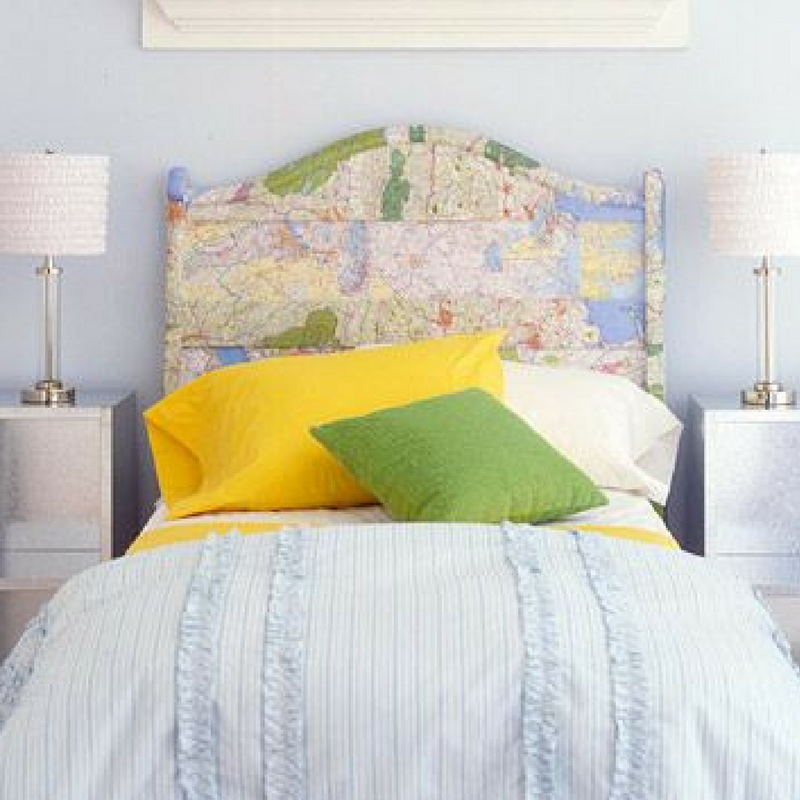 Maps As A Headboard