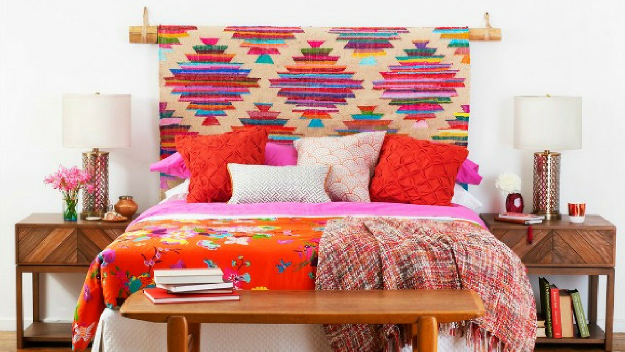 Area Rug As A Headboard