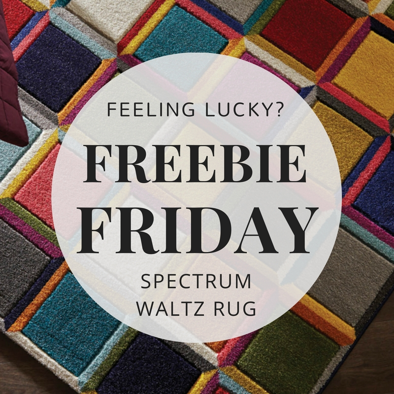 Freebie Friday Competition Spectrum Waltz Multicoloured Rugs Featured Image