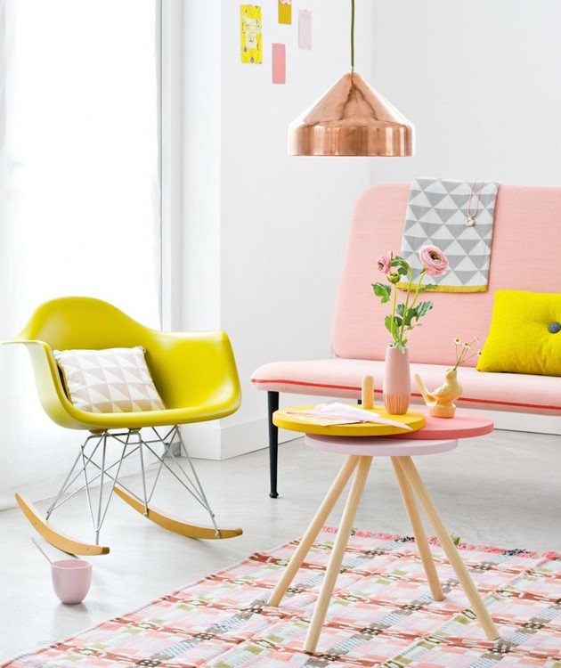 summer inspired bright coloured home decor
