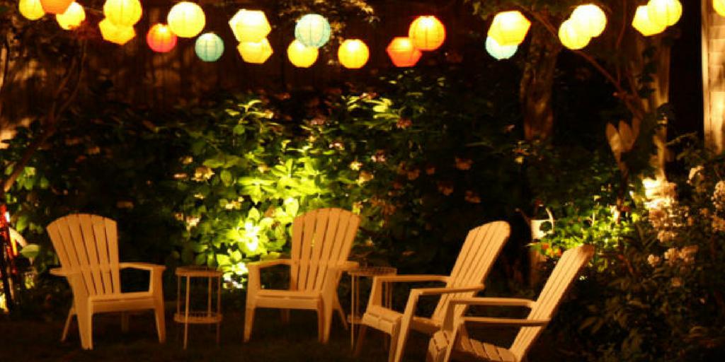 garden party mood lighting