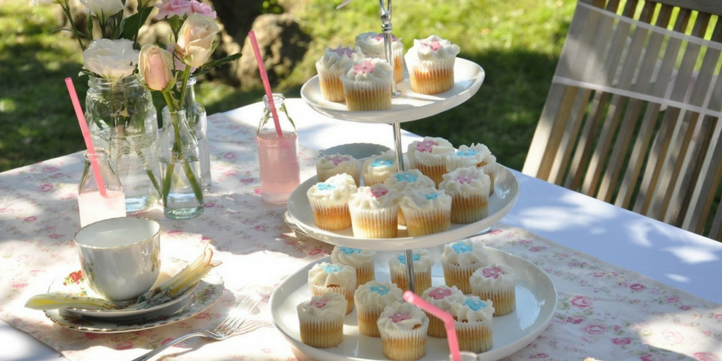 garden party table sweet treats and cakes for guests