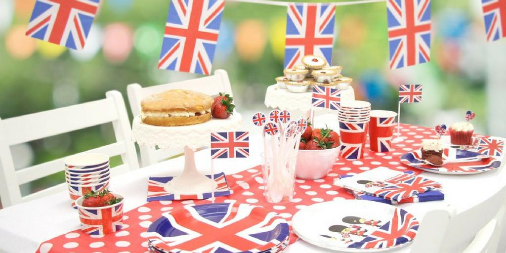 garden party British patriotic theme