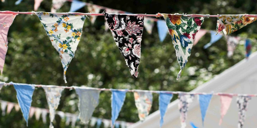 garden party bunting decorations for the garden